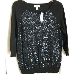 Women's pullover sequined sweater.